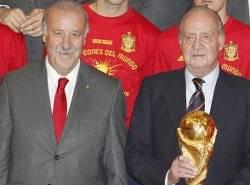 Juan Carlos I y Vicente del Bosque