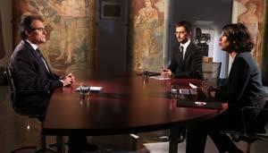 Artur Mas, entrevista en TV3