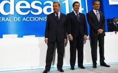 El presidente de Enel, Fulvio Conti; el presidente de Endesa ...