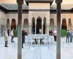 Turistas en la Alhambra, Granada
