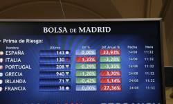 Caída en la Bolsa española