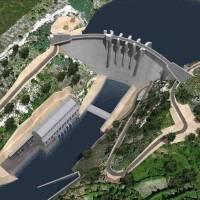 Infografía de la central hidroeléctrica Daivoes, Portugal