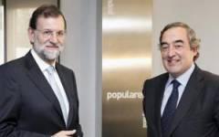 Mariano Rajoy y Joan Rosell, presidente de la CEOE