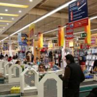 Línea de caja en Carrefour