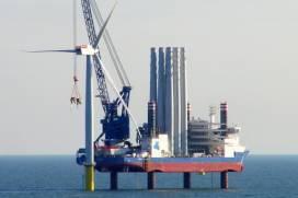 Instalacion de un Parque eolico de Iberdrola