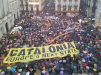 Protestas a favor del referendum en Cataluña