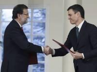Sánchez y su selfie con Rajoy .