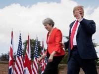 Donald Trump y Theresa May en su visita a Reino Unido