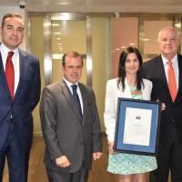 Banco Santander recibe la certificación Aenor