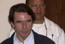 Jose María Aznar con los presidentes de Guatemala, Panamá y Honduras