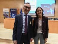 Josep Trabado, Endesa X, con Reyes Maroto, ministra de Industria.
