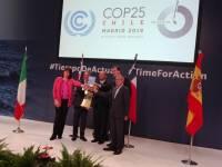 Acto de relevo en la presidencia de la COP25.