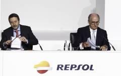 Jon Imaz y Antonio Brufau, Repsol.