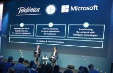 Satya Nadella, CEO de Microsoft, y José María Álvarez-Pallete, presidente ejecutivo de Telefónica-