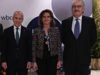 Ribera, con representantes de Enel y Endesa.