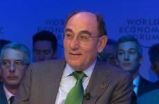 Ignacio Galán en Davos.