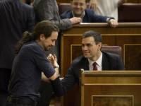 Pedro Sánchez y Pablo Iglesias. amigos para siempre.