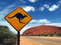 Señalización en carretera australiana