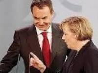 Zapatero y Ángela Merkel