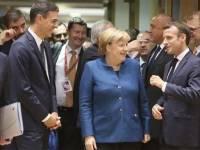 Ángela Merkel y Pedro Sánchez.