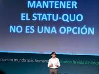 Álvarez-Pallete, en el anuncio.
